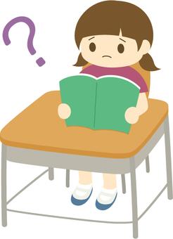 LD girl _ reading disorder