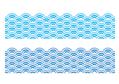 Wave pattern _ blue