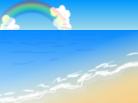 Coast and rainbow