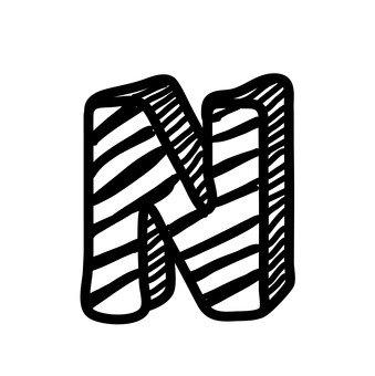N (upper case)