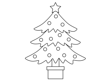 Christmas tree (line drawing)