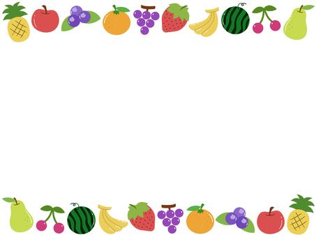 Frame full of fruits