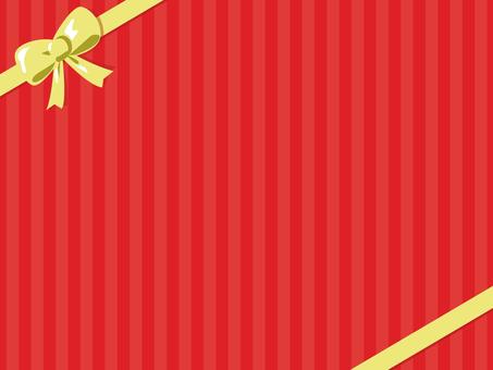 빨간 줄무늬 2 리본 2