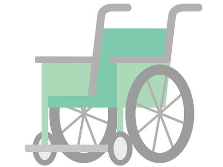 60123. Wheelchair, green
