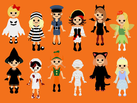 Girls' costumes * Orange