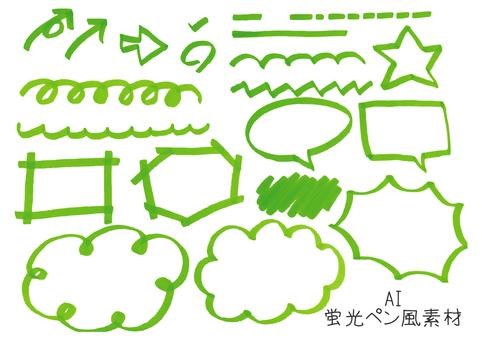 Highlighter pen style material _ green