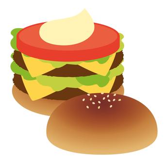 햄버거 치즈 버거