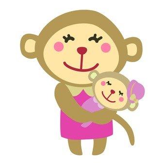 Mom monkey