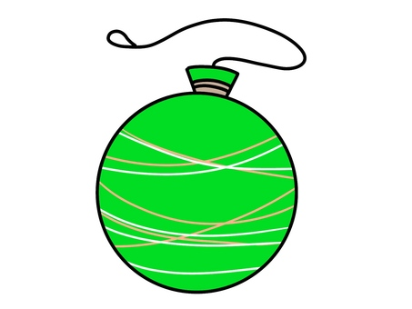 Illustration 05 of a green water balloon for summer festival