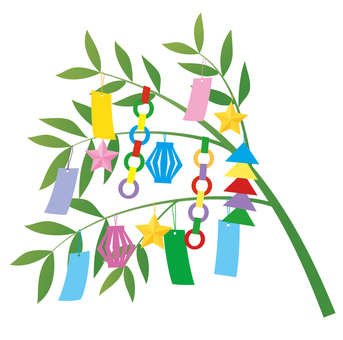 Bamboo decoration of Tanabata