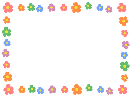 Simple flower decoration frame 2