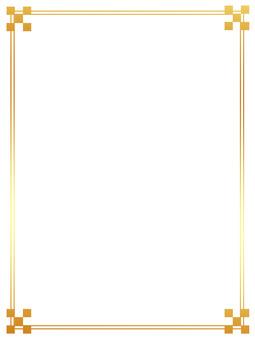 Simple frame gold vertical