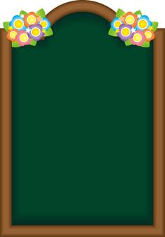 A4 꽃이있는 보드