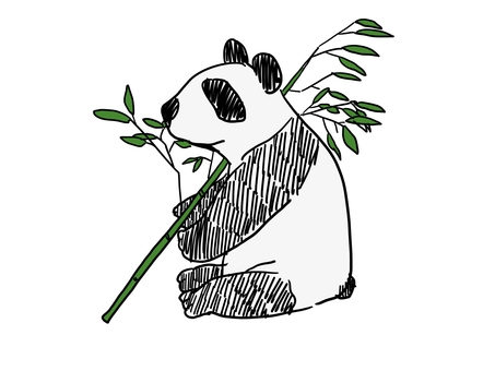 Panda with ax