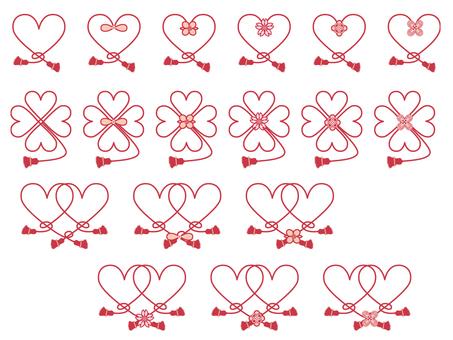 Decorative string _ heart