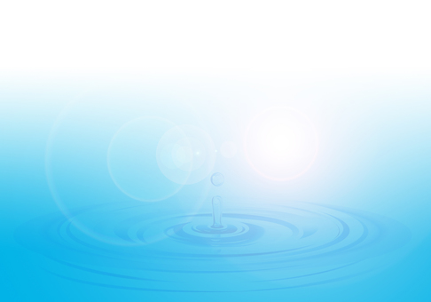 Water surface and water drop