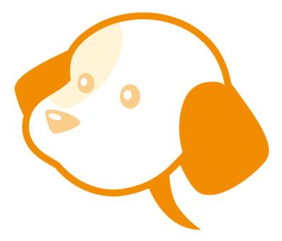 Dog type balloon _ orange