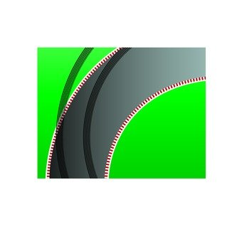 Corner tire marks