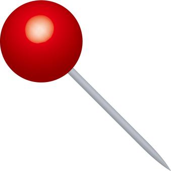 Map pin push pin spherical shape