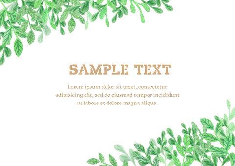 수채화 소재 045 녹색 프레임