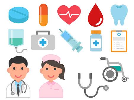 Medical color icon set 01