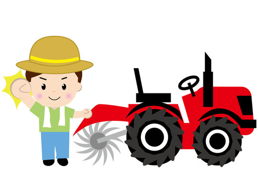 Tractor - with people 2