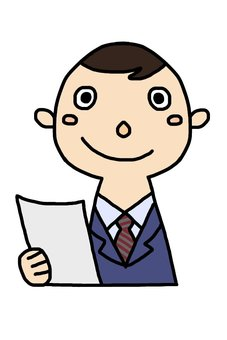 Male employee with documents