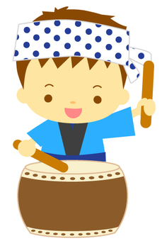 Children Taiko drum