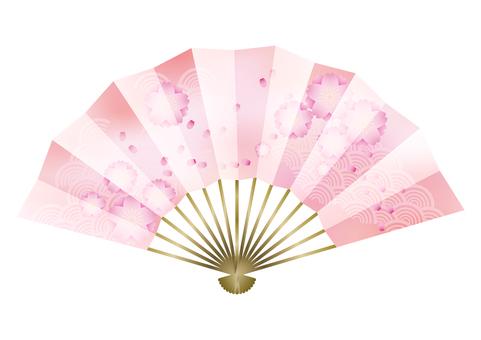 Peach blossoms & fans 2