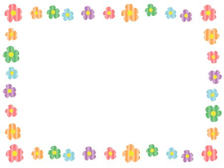 Simple flower decorative frame