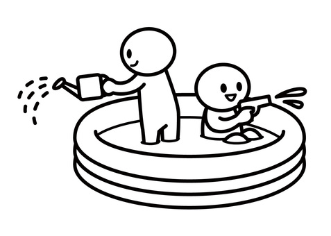 【Theme】 Stickman-Water Play