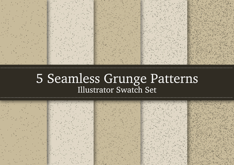 Seamless grunge pattern set