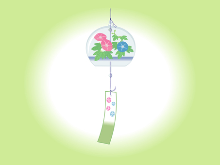 Edo-style bell (morning glory)
