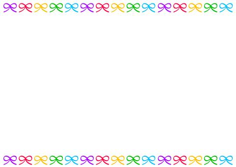 Colorful ribbon frame