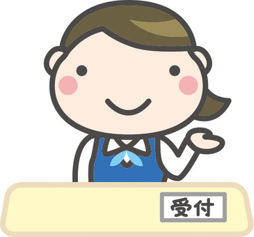 Illustration of receptionist woman