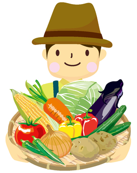 Person with a lot of vegetables