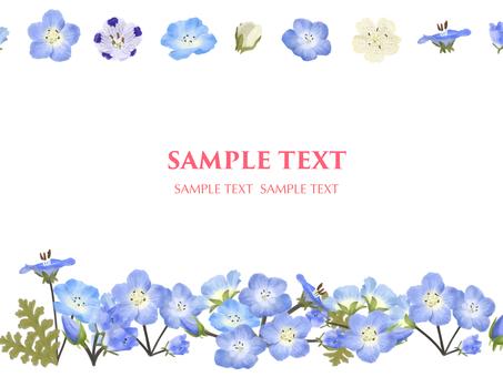 5 월의 꽃 네모 피라 프레임
