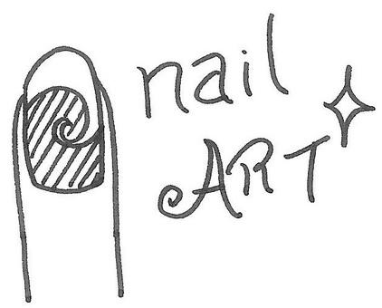 Nail art nail art logo