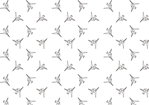Crane Wallpaper background pattern-black and white