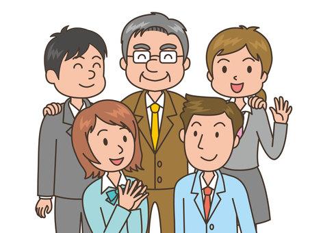人物/会社員5人/仲間