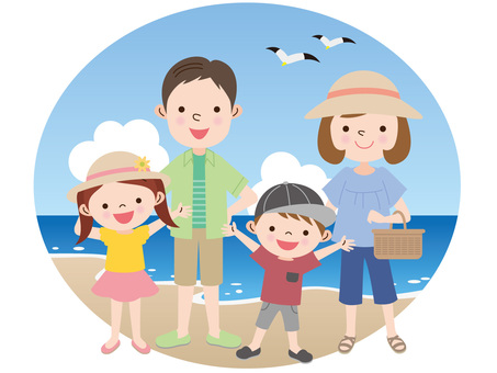 Family and sea leisure