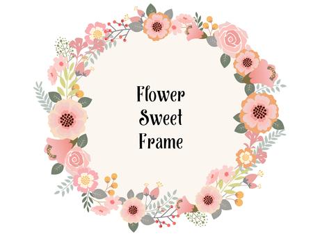 Flower decoration frame 3