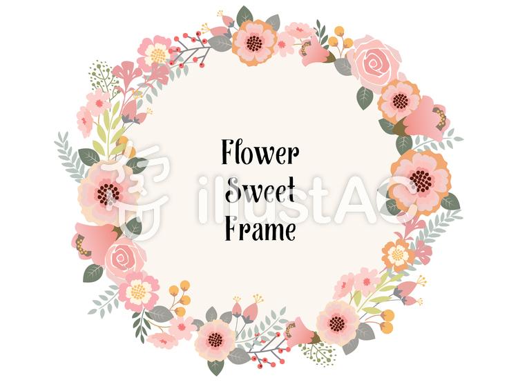 花飾りフレーム3イラスト No 736162無料イラストならイラストac