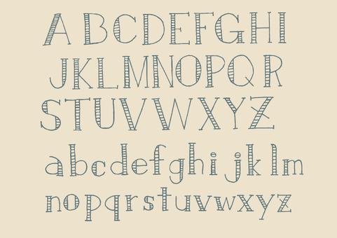 文字-アルファベット3(ブルーグレー