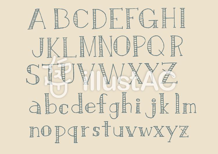 文字-アルファベット3(ブルーグレーのイラスト