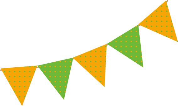 Flag Garland (Vitamin 2 color dot)