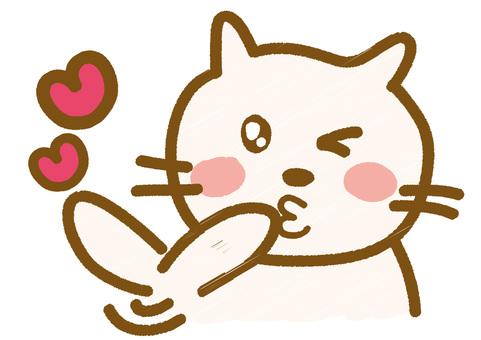 Throwing Kiss _ Neko-chan
