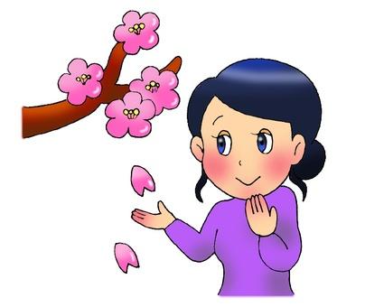 Sakura and women