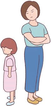 憤怒的母親(母親和女兒)