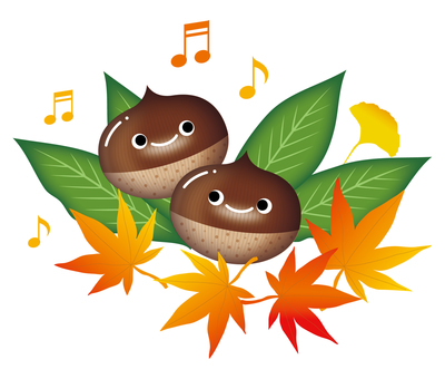 Chestnut smile and fall